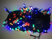Гирлянда черная LED 300 мульти (конус)
