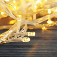 Гирлянда прозрачная LED 500 теплый белый