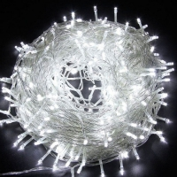 Гирлянда прозрачная LED 100 белый