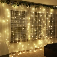 Гирлянда-штора LED200 теплый белый 3х2м 8 режимов