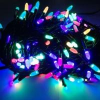 Гирлянда черная LED 100 мульти (рис)