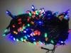 Гирлянда черная LED 100 мульти (конус)