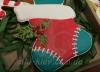 """Имбирный пряник """"Носок с подарками"""""""