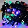 Гирлянда черная LED 300 мульти (рубин)